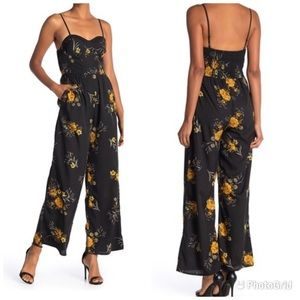 🌻[Band of Gypsies] Blush Ivory Floral Jumpsuit